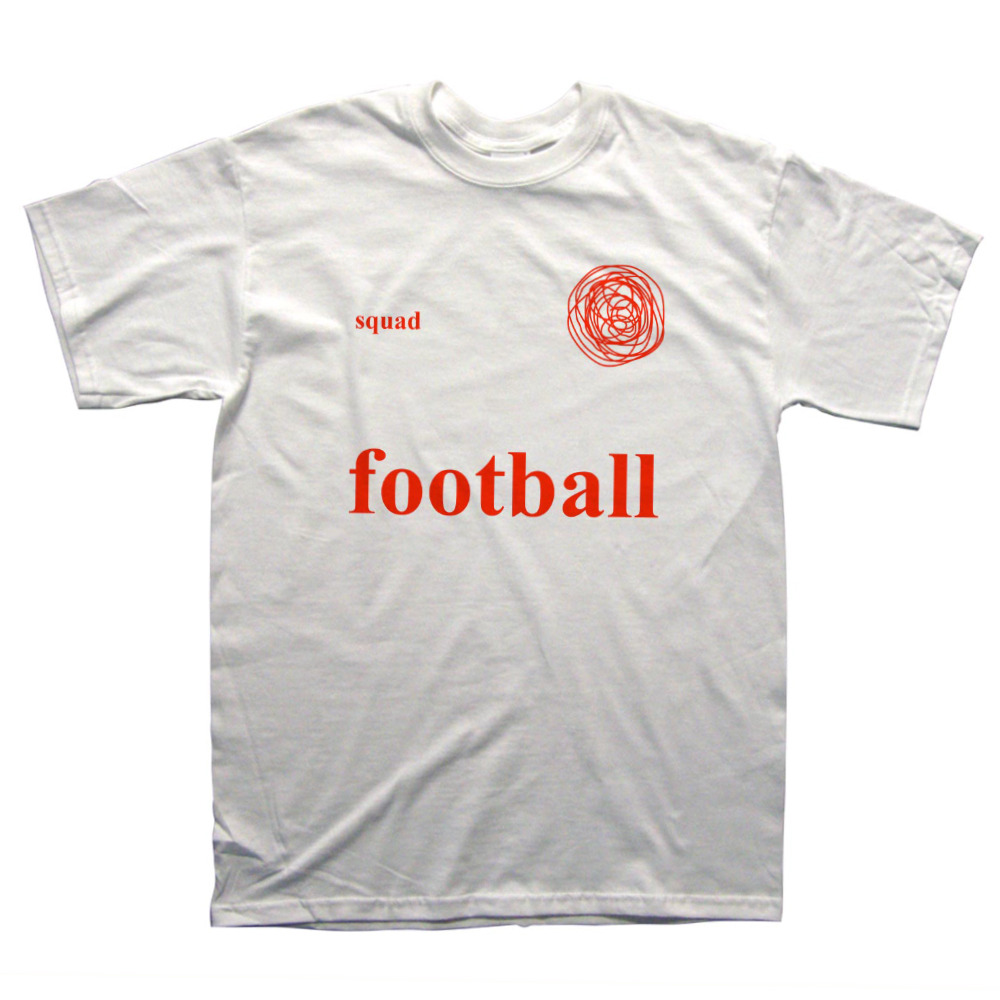 football shirt by chris (simpsons artist) £12    http://picturesthatigoneanddone.bigcartel.com/product/white-football-top     http://www.independent.co.uk/sport/football/worldcup/how-to-look-like-you-know-loads-about-football-a-beginners-guide-to-the-world-cup-awards-9530038.html