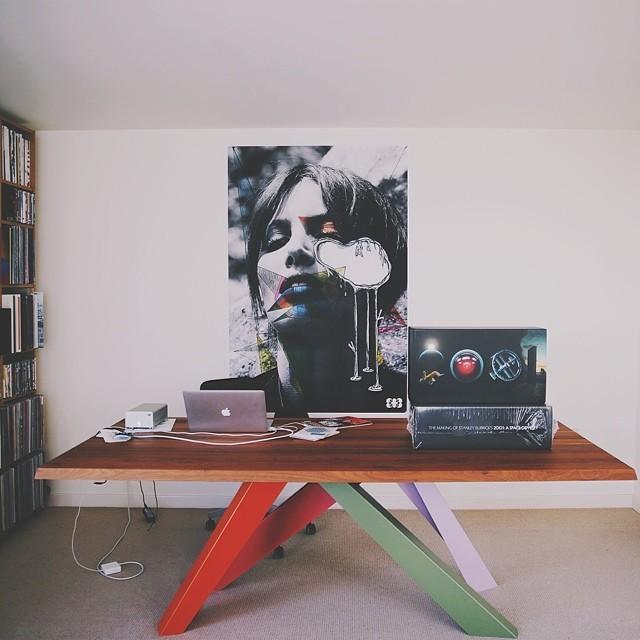 my new sweet setup, photo courtesy of @santilafamilia #regram #workspace #bonaldo  (at Greenwich)