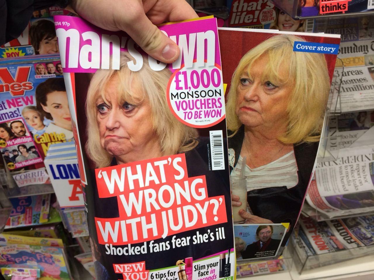 bit unfair to delete her lips, give her a frog's face and stick her on the cover of a magazine… and then ask 'what's wrong?'