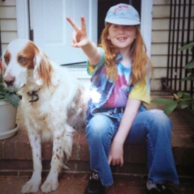 Lil Mo, age 6, with my bestie Winchester.