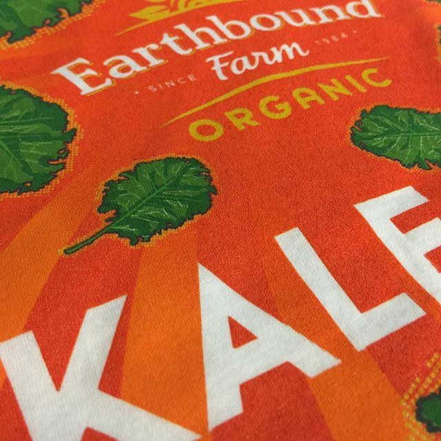 Let's all eat heathy#kale#earthboundfarm #eathealthy #screenprinting #promotionalproducts