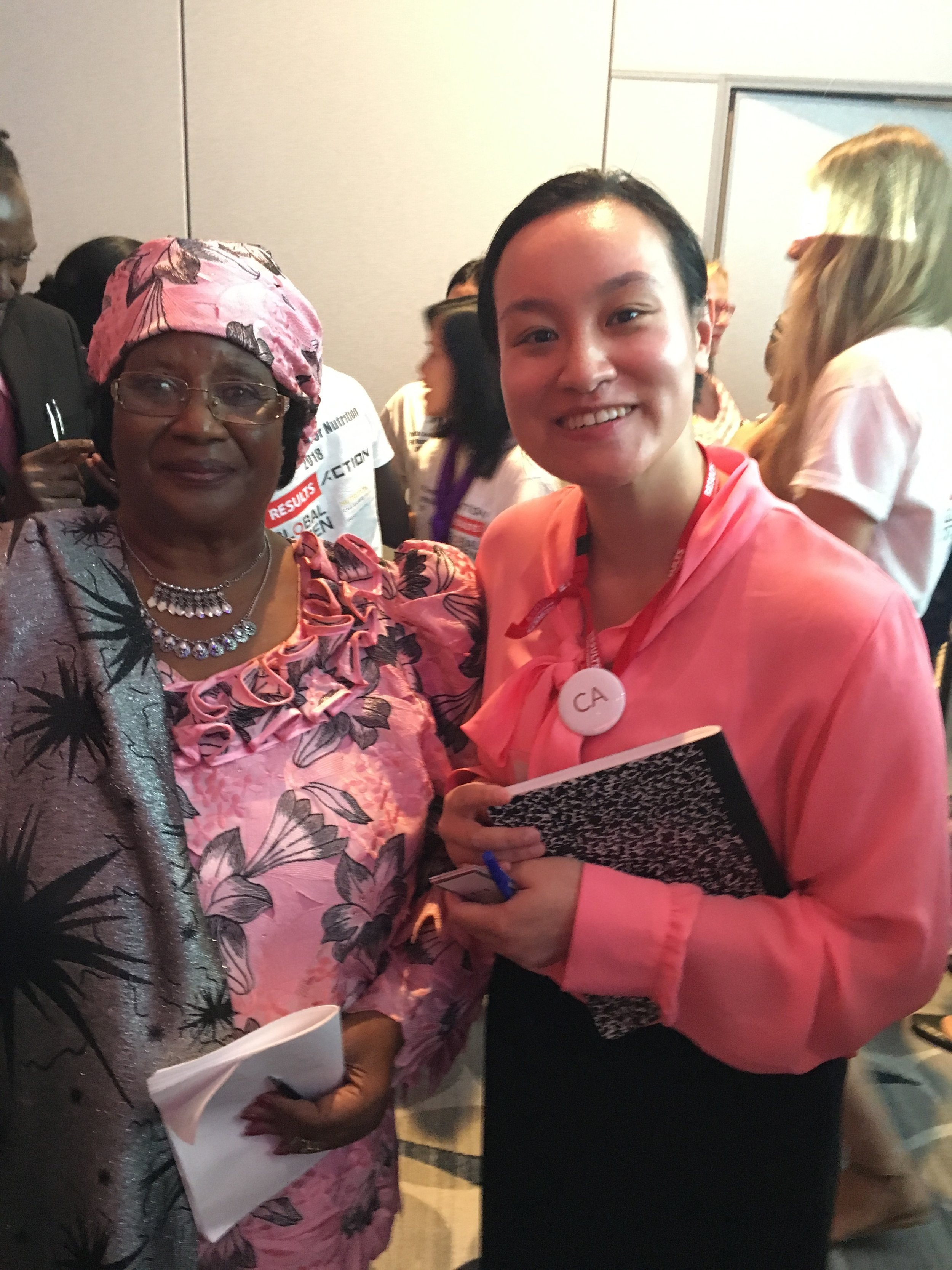 Mei Sze Phung with Joyce Banda, former President of Malawi_RESULTS International Conference 2018.jpeg