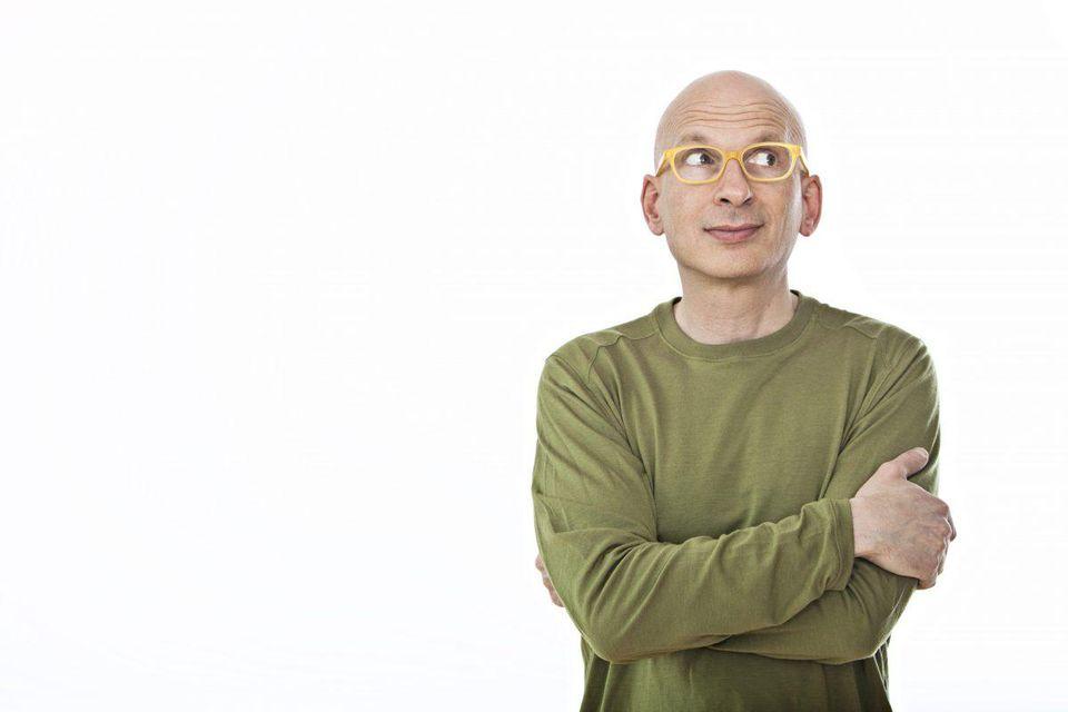 Seth Godin on marketing.  PHOTO BY BRIAN BLOOM
