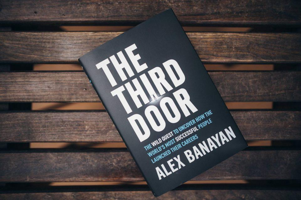 The Third Door by Alex Banayan Book  PHOTOGRAPH BY ZACH ALLIA