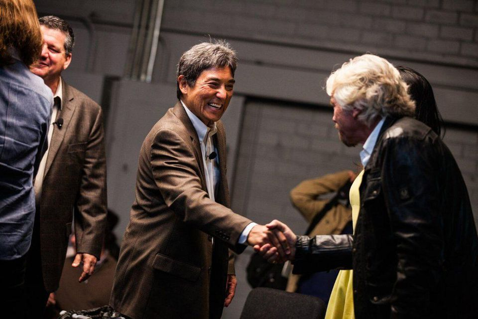 Kawasaki and Branson COURTESY OF GUY KAWASAKI