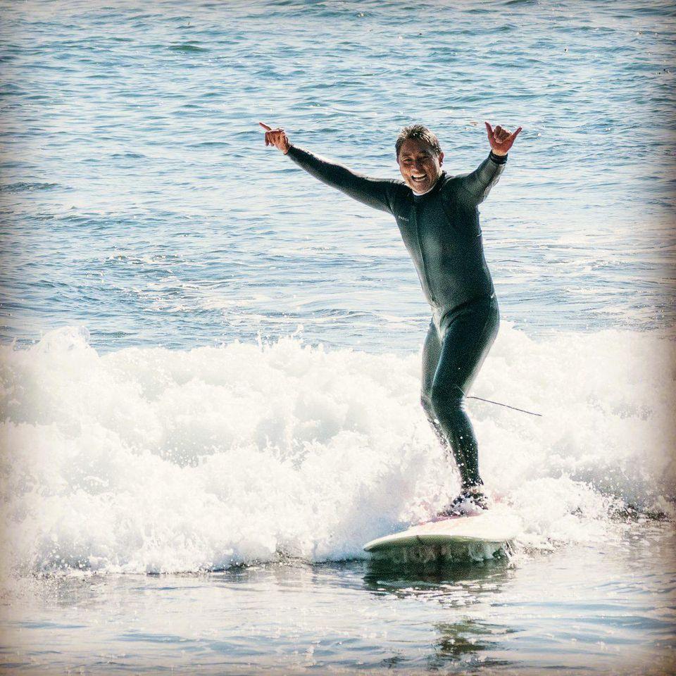 Learning to surf at 62. COURTESY OF GUY KAWASAKI