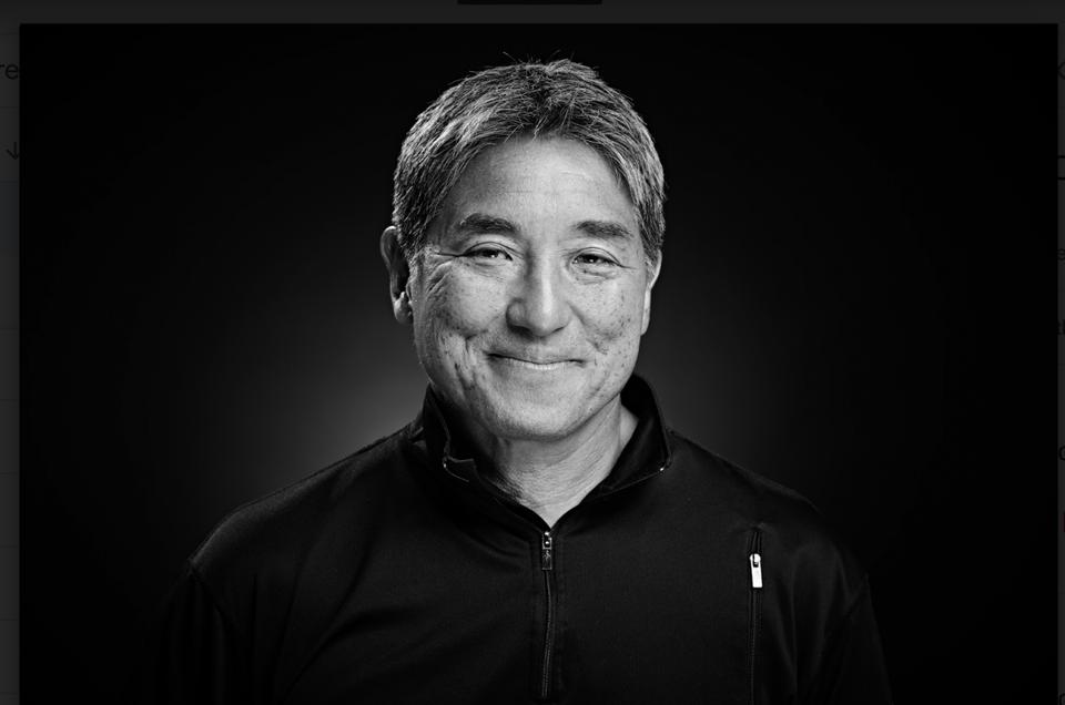 - Apple Alum and Bestselling Author : Guy Kawasaki