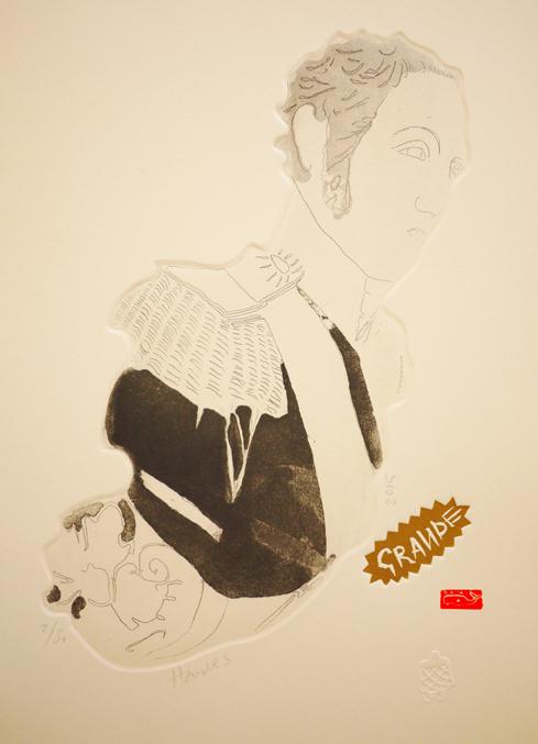 II Grande, 2015, etching, 22cm x 31cm