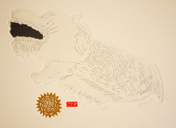 Lion, 2015, etching, 22xm 31cm