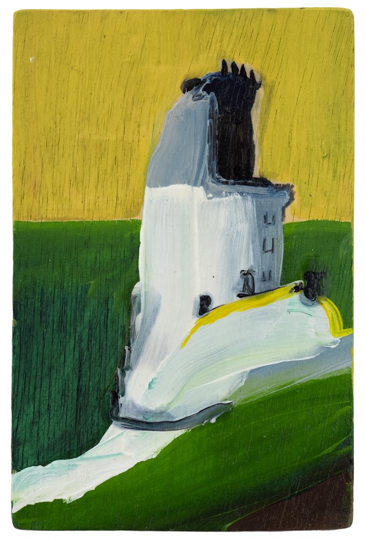 Lighthouse, 2019, oil on board, 13cm x 20cm