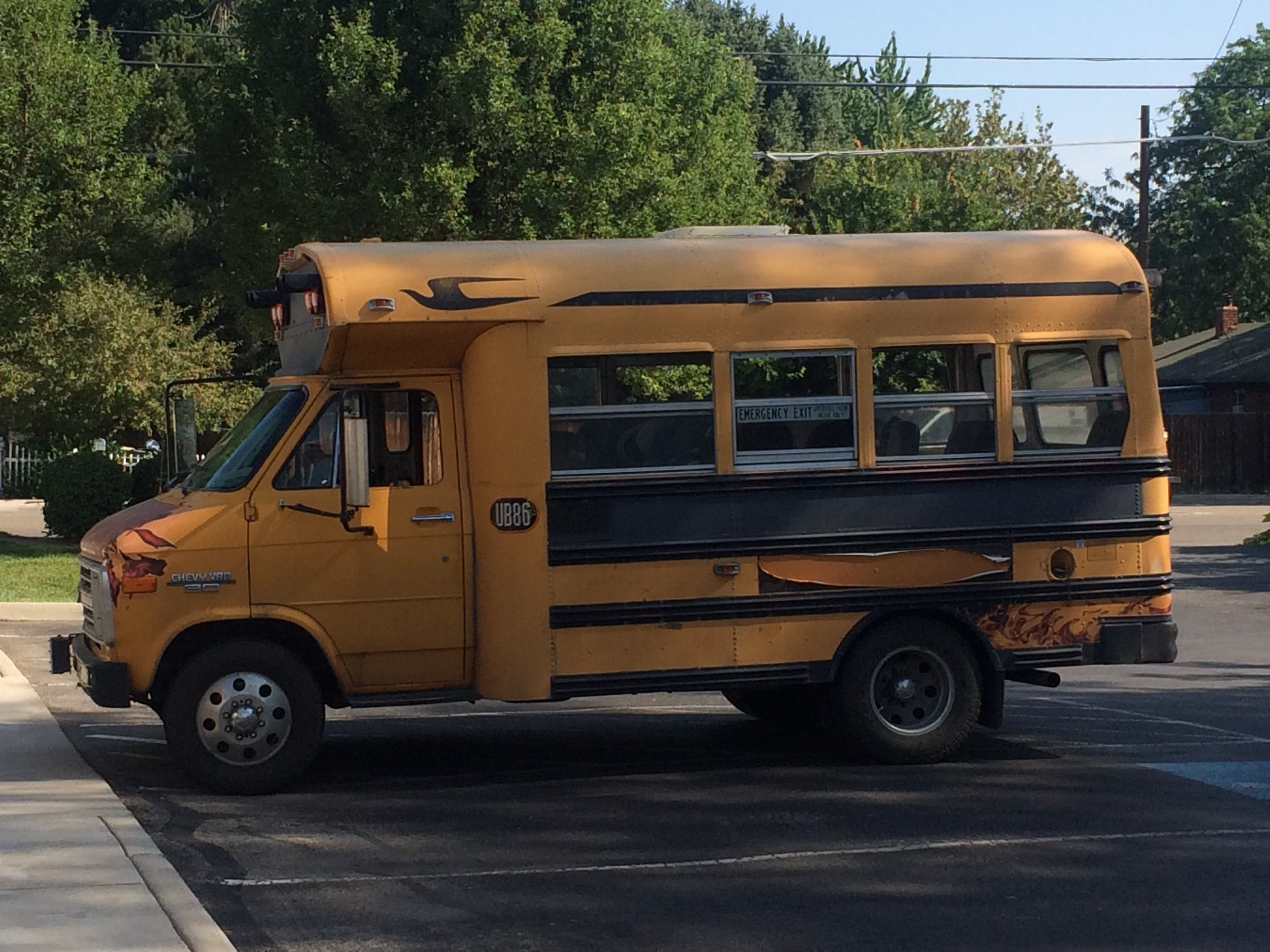 Pictured: The center's first bus to transport kids to and from school