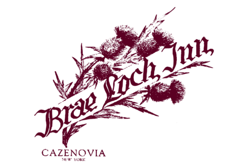 This image is the logo of the Brae Lock Inn, Cazenovia, NY.