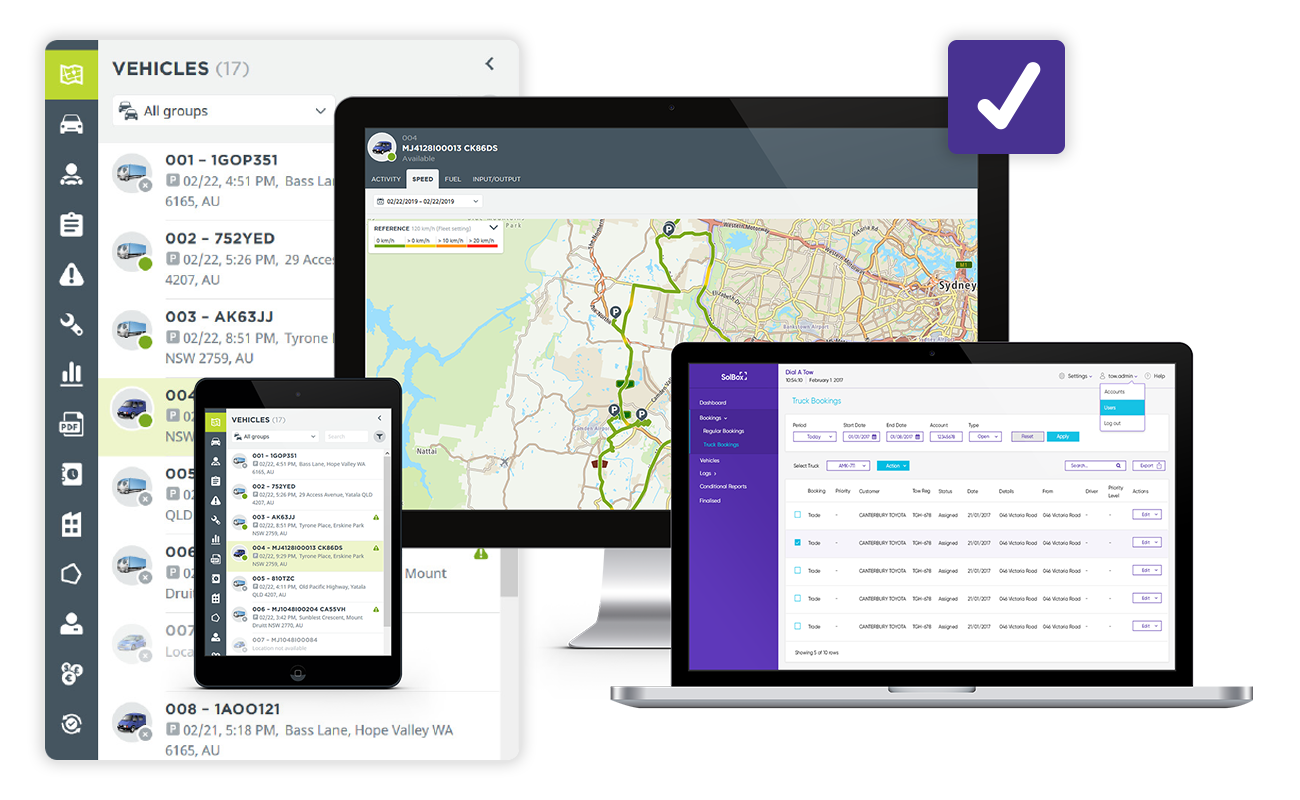 Complete deliveries fast with fewer vehicles - At the heart of SolBox's fleet management solution is our unique optimisation algorithm. Not only does it identify the quickest routes to complete all assignments, it will also actively look to reduce the number of vehicles needed, helping your business work smarter, not harder.