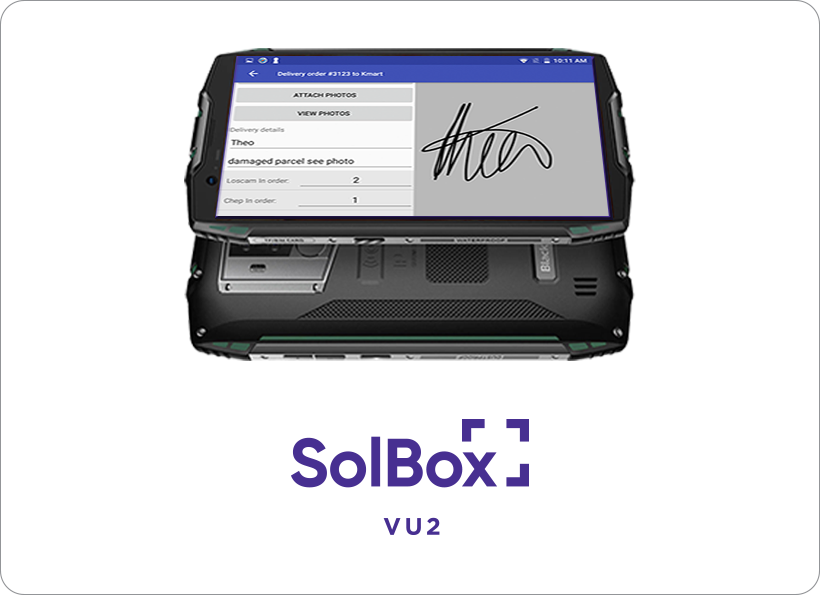 "SolBox VU2 - 5.7"" Gorilla Glass handheld SolBox device, mobile and NAV ready for all delivery or pick up needs."