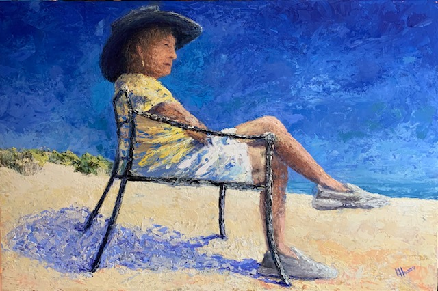 Last Day At The Beach - By Linda Hauser