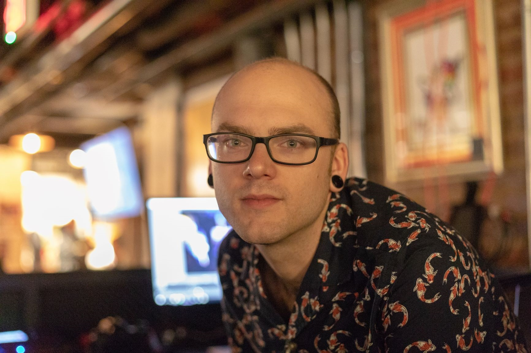 Eli Webb on the soundboard @ Art of Mind