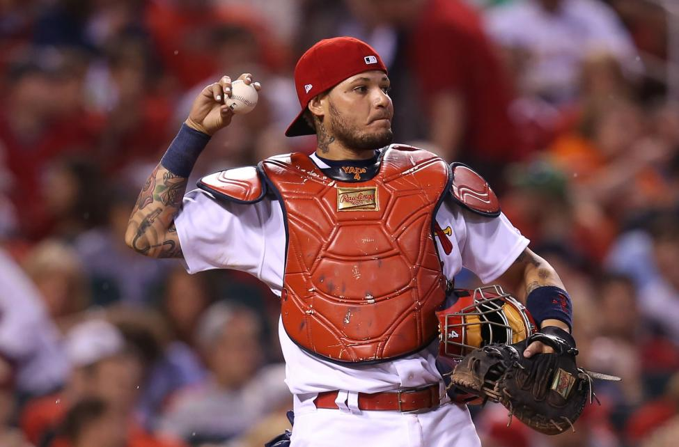 Cardinals Catcher Yadier Molina |  Photo by Bill Greenblatt/UPI