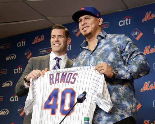 New Mets Catcher Wilson Ramos (Photo: Seth Wenig/AP)