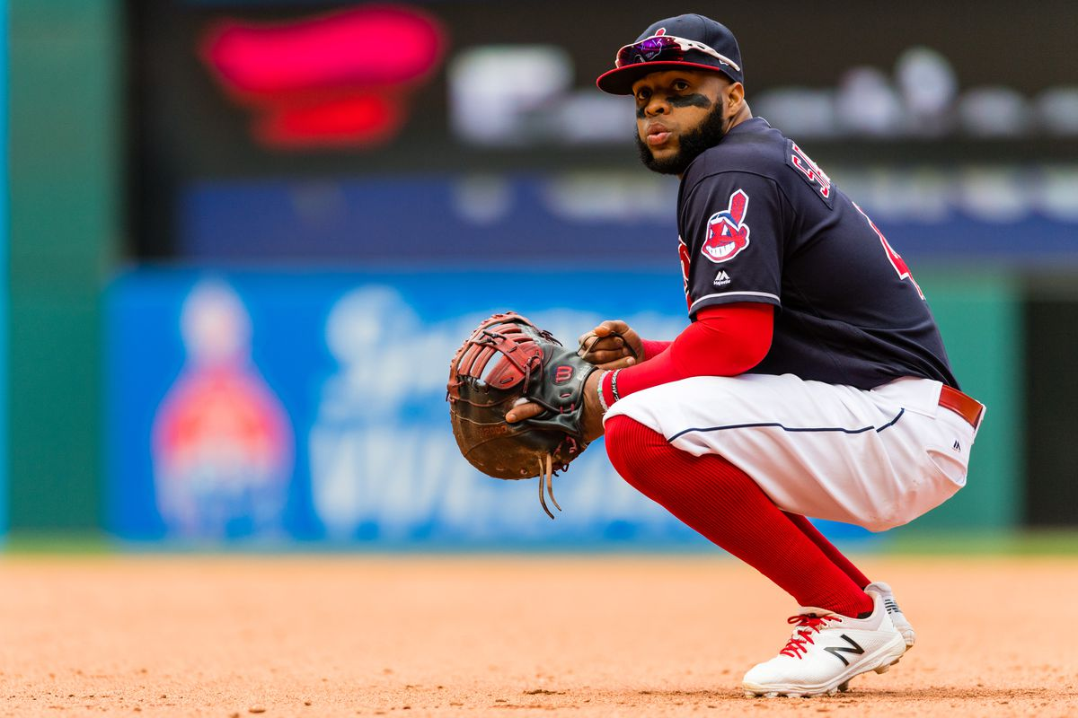 Indians 1B/DH Carlos Santana (Photo by Jason Miller/Getty Images)