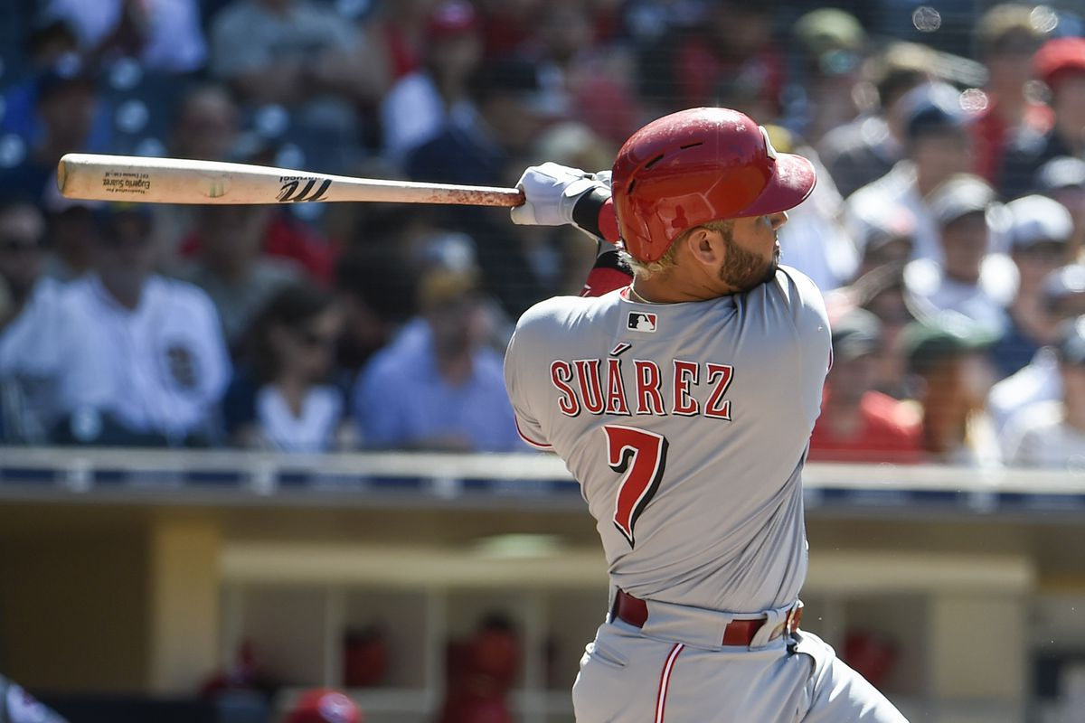 Reds Third Baseman Eugenio Suarez (Photo by Denis Poroy/Getty Images)