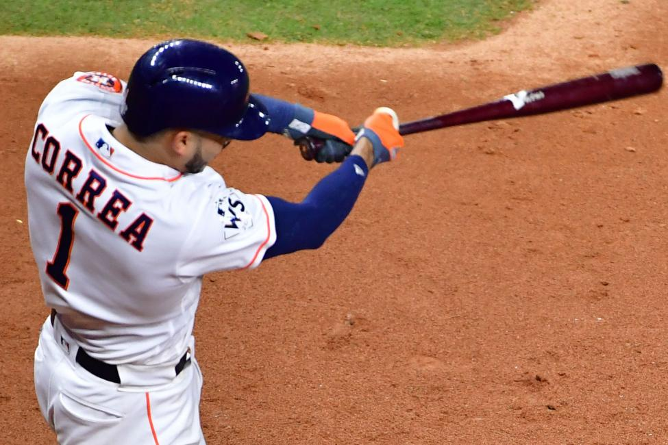 Astros Shortstop Carlos Correa (Photo by Kevin Dietsch/UPI)