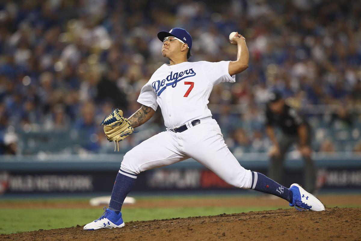 Dodgers Pitcher Julio Urias (Photo by Ezra Shaw/Getty Images)