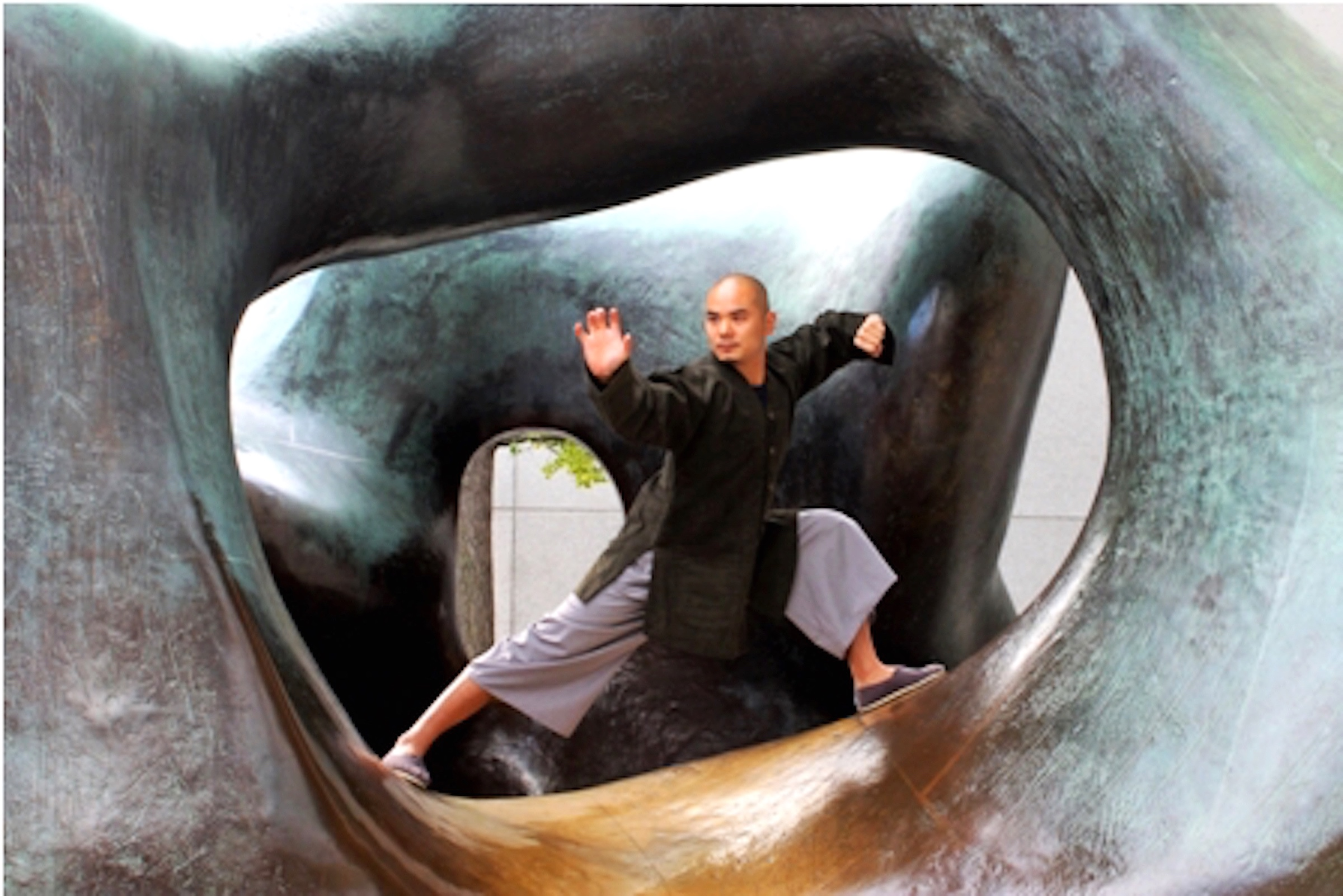 EYE OF THE STORM  by Brian Bantugan photograph on paper model: Wang Hui Martial Arts - Kung Fu Expert