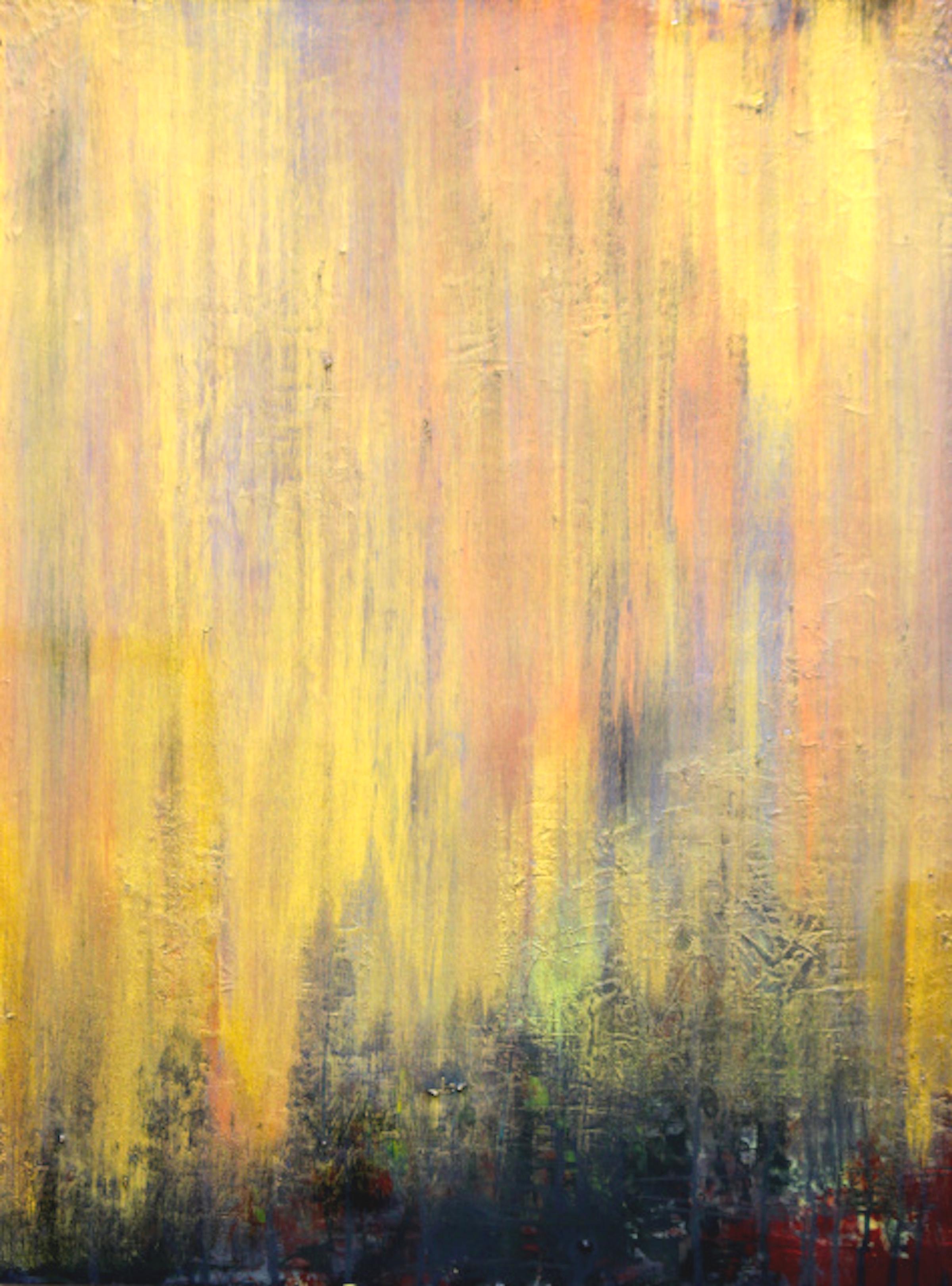 "BASK IN THE GLOW  by Linda Langerak 18""x 24"" acrylic on wood"