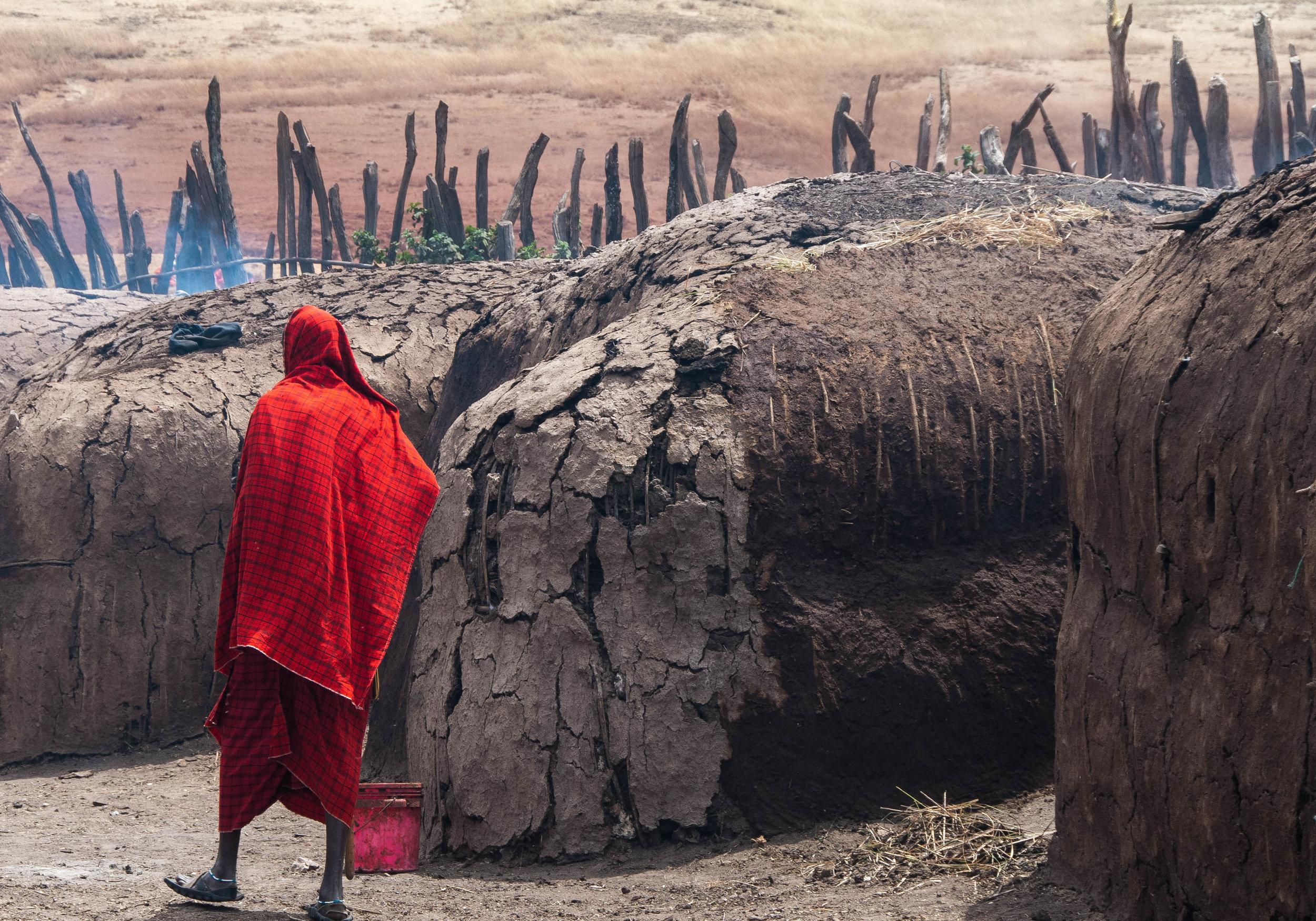 """MASAI IN RED  by Lyndon Wiehe 17"""" x 22"""" inkjet on paper"""