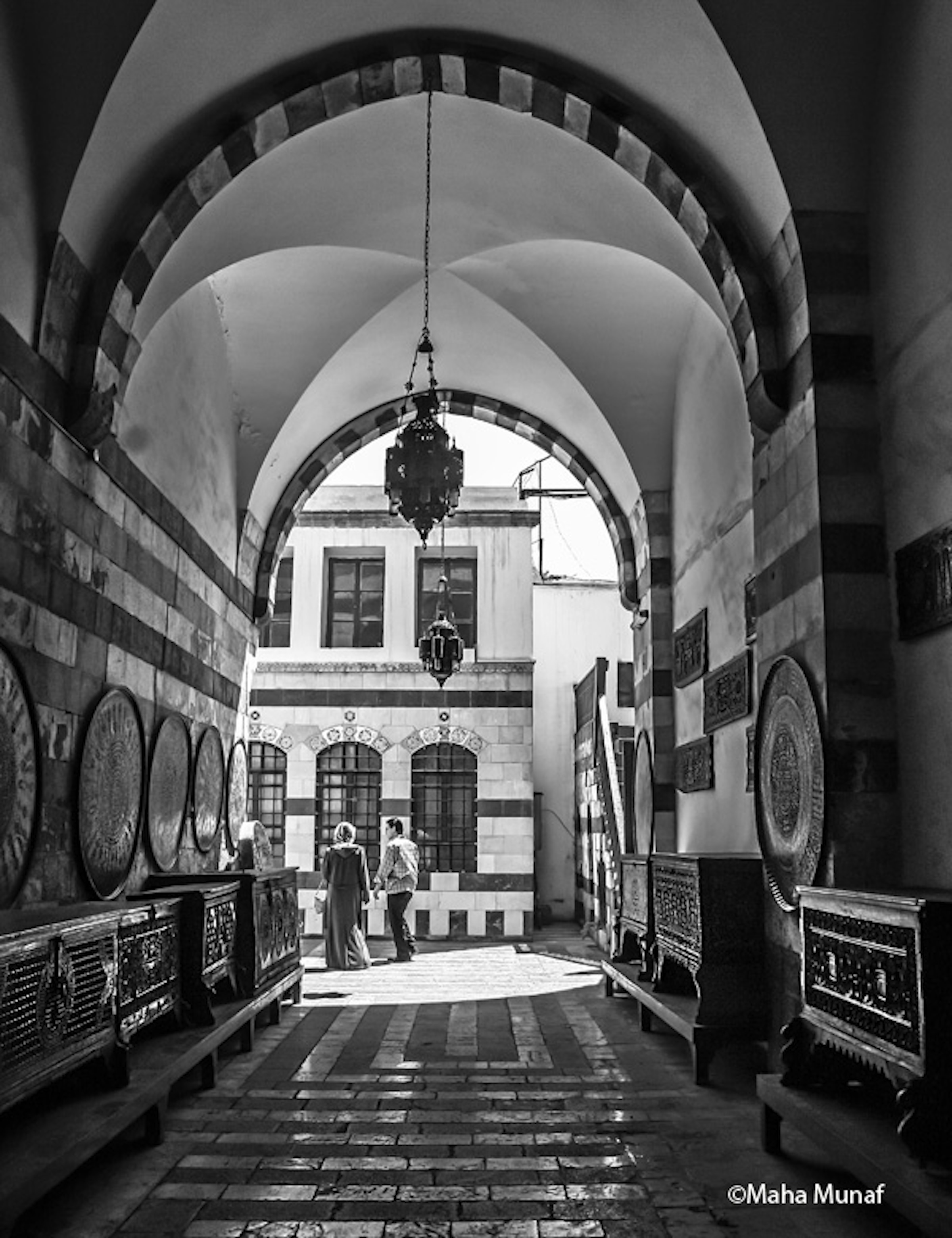 """AZM PALACE  Damascus, Syria 2006 by Maha Munaf 27"""" x 32"""" digital photograph on paper"""