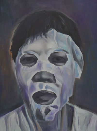 The Mask, by Grace Dam -oil on canvas