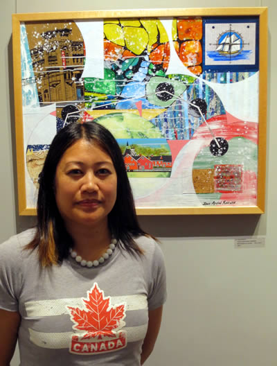 Artist  Joan Andal Romano  with  TRUE NORTH