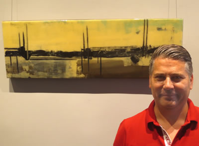 Artist  Kent Bridges  with  LIFE IN A NORTHERN TOWN