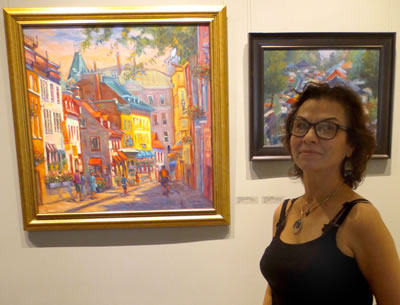 Artist  Manizhe Sabet-Sarvestani  with (L-R)  CANADA DAY IN QUEBEC CITY  and  THORNHILL FESTIVAL