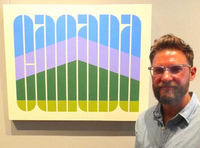 Artist  Colin Nun  with  CANADA