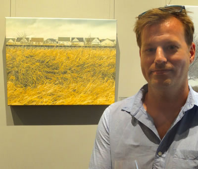 Artist  Lyndon Wiebe  and  LITTLE HOUSES ON THE PRAIRIE