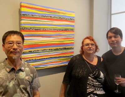 Artist  Erik Chong  with wife Jeanette and son Jed, with  BEAUTIFUL DAY
