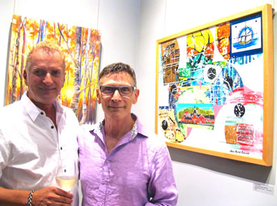 Gallery owner Calvin Hambrook and CuratorAllenShugar