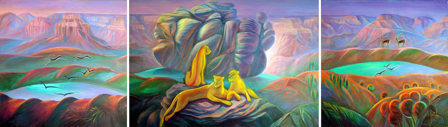 MOUNTAIN LIONS_Life by The Grand Canyon-7 (triptych) by Janna Kroupko.jpg
