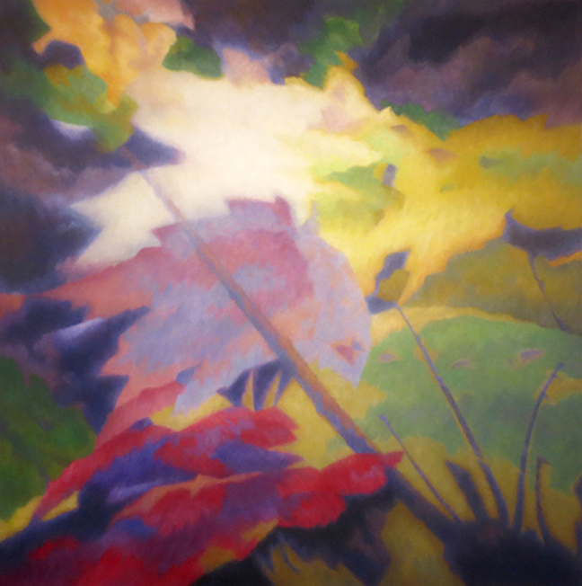 "SHIFTING LIGHT  oil on canvas 40"" x 40"" by Allen Shugar"