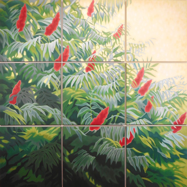 """SUMMER SUMACH  9 panels ea 24"""" x 24"""" • Oil on canvas by Allen Shugar for THE SUMACH at CHARTWELL"""