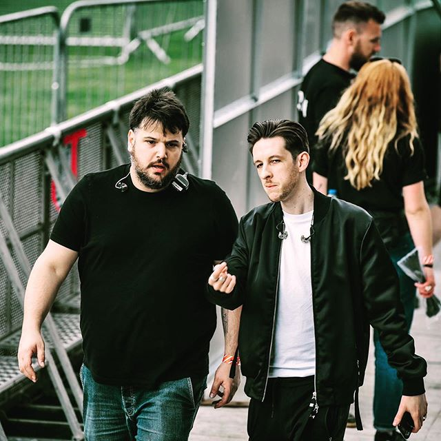 As we get ready for another monster weekend, here's @sigalamusic and me just casually serving some tour realness. Photos courtesy of @etranter