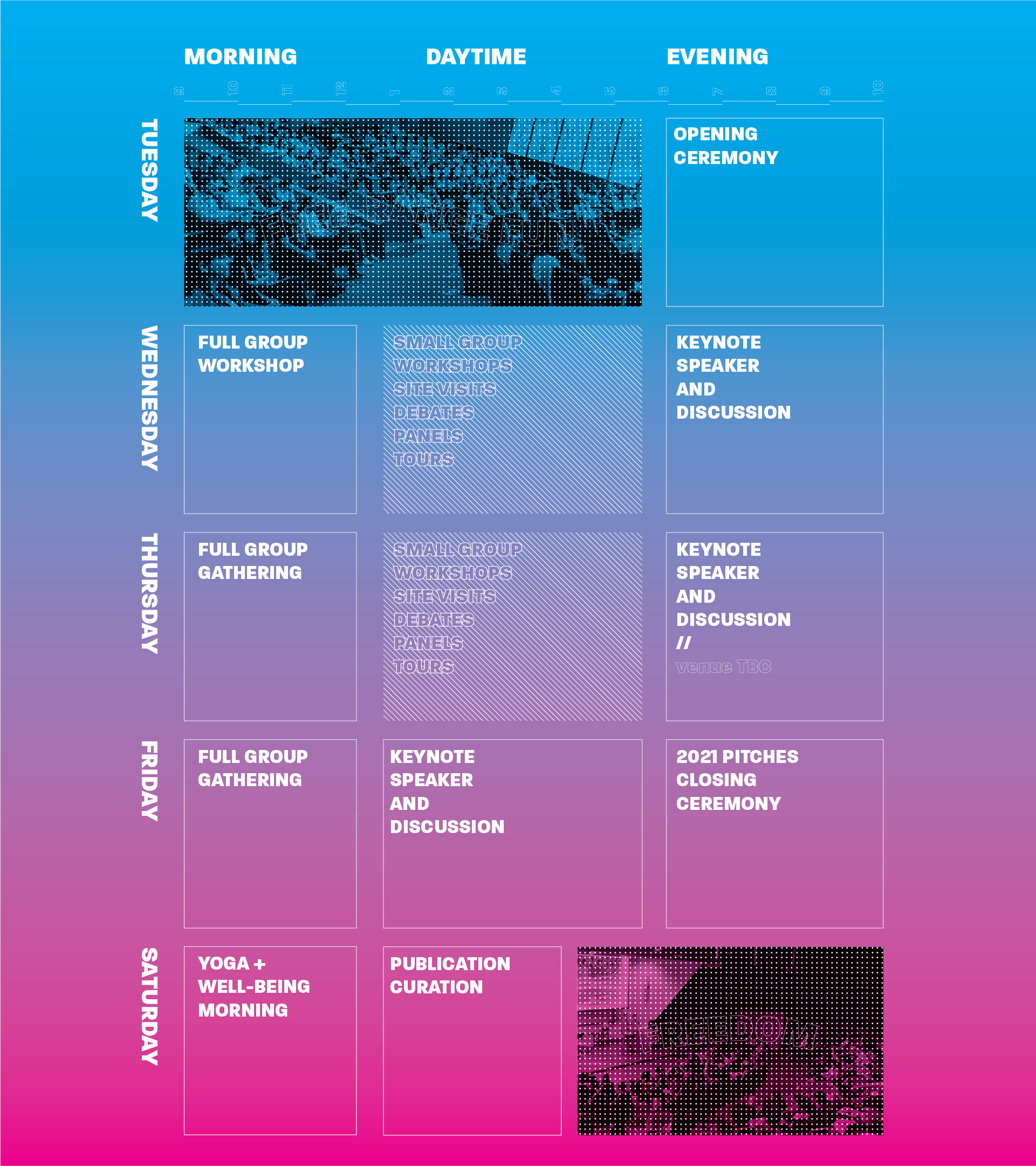 DISSENT2019 Timetable