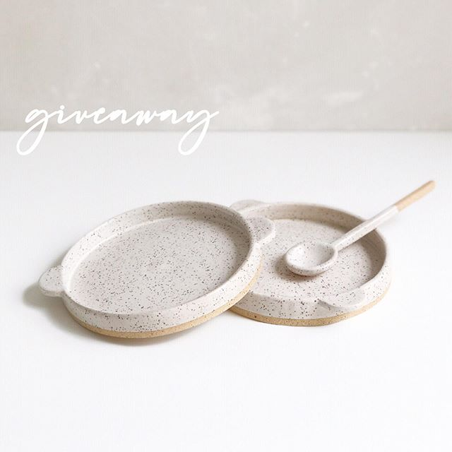 GIVEAWAY x 2! To celebrate my upcoming launch, I'll be giving away two collections as a big THANK YOU for following and supporting #GardenStudyCeramics.   The first set is a pair of speckled blates with a handmade spoon. The second: green tea + a handmade Japanese teapot from a local artist in Kyoto during our recent travels there. The pinch platters are also included!  To enter: • Like this photo + follow @gardenstudyceramics  • Tag a friend  • Share what you would plate using the Garden Study pieces!  ⠀⠀ There's also still time to sign up for a coupon code, which will be emailed with a newsletter that gives first access to subscribers only. ⠀⠀ The winner of the giveaways will be announced this weekend!  ⠀⠀  ⠀⠀  ⠀⠀  ⠀⠀  ⠀⠀ #giveaway #ceramicist #launchparty #foundmademodern #slabbuilt  #speckledclay #ceramics #foodblogger #stylingprop #tabledecor #chasinglight #modernceramics #ceramicsdaily #contemporarycraft #matcha #abmcrafty #noticingceramics #ceramicstudio #madeinsandiego #sandiegomaker #slowliving #ceramicspoon #ceramicspoons #potterygram #greentea #sandiegofoodie #chefstable #chefsofinstagram #陶器