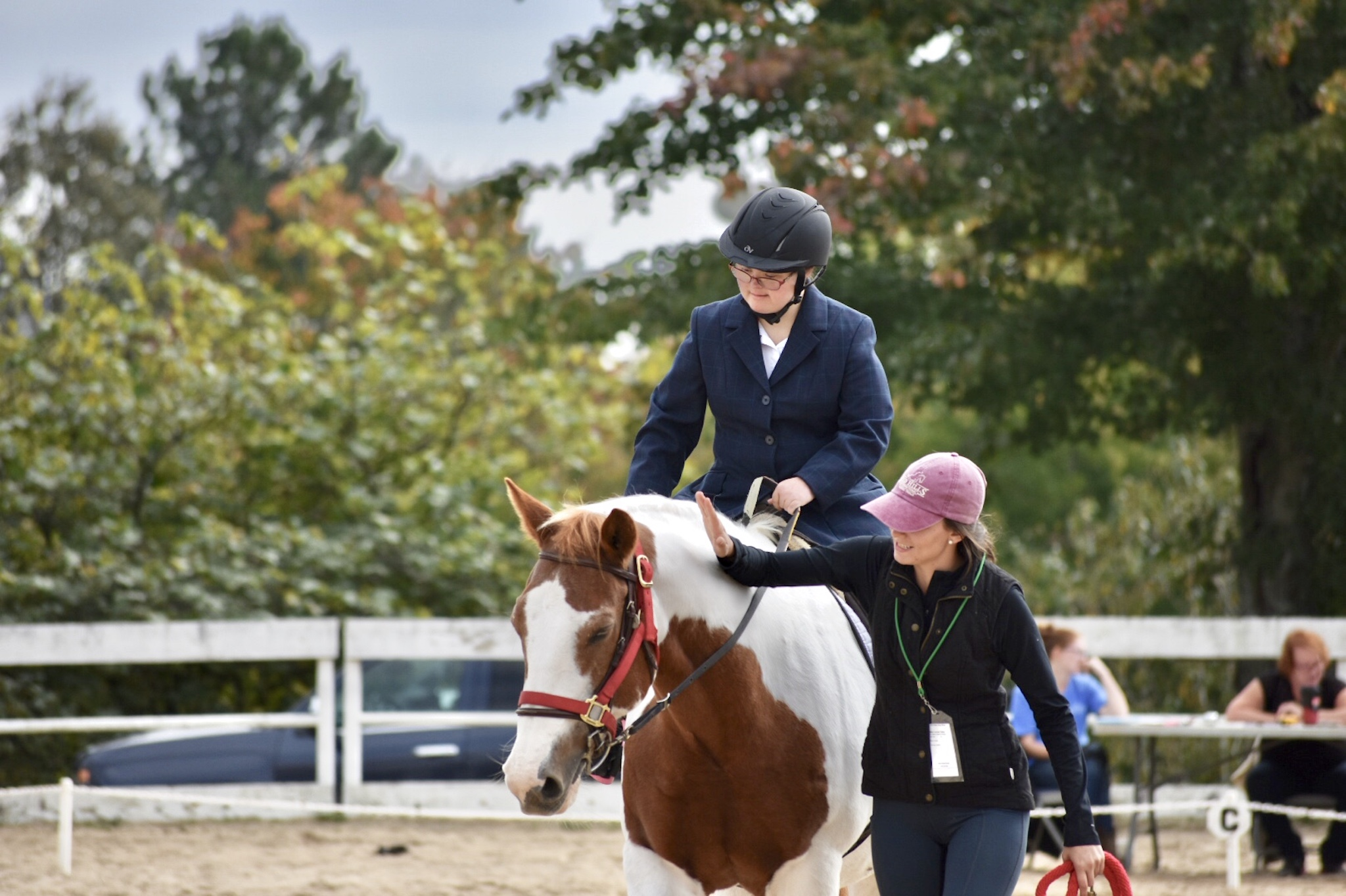 """what people are saying - """"Our daughter has been riding there for well over a decade and it has always been her favorite part of the week. She has learned so much and become such a confident rider. But my favorite image is what often happens at the end of her lesson on her horse, Eclipse. When her time is up, and she is told it is time to go back to the barn, she turns Eclipse in the opposite direction and begins kicking and laughing as they ride off. She just loves it so much, she truly doesn't want the time to end. I smile every time I think about it, and am grateful (again) for the joy she has at HHH."""