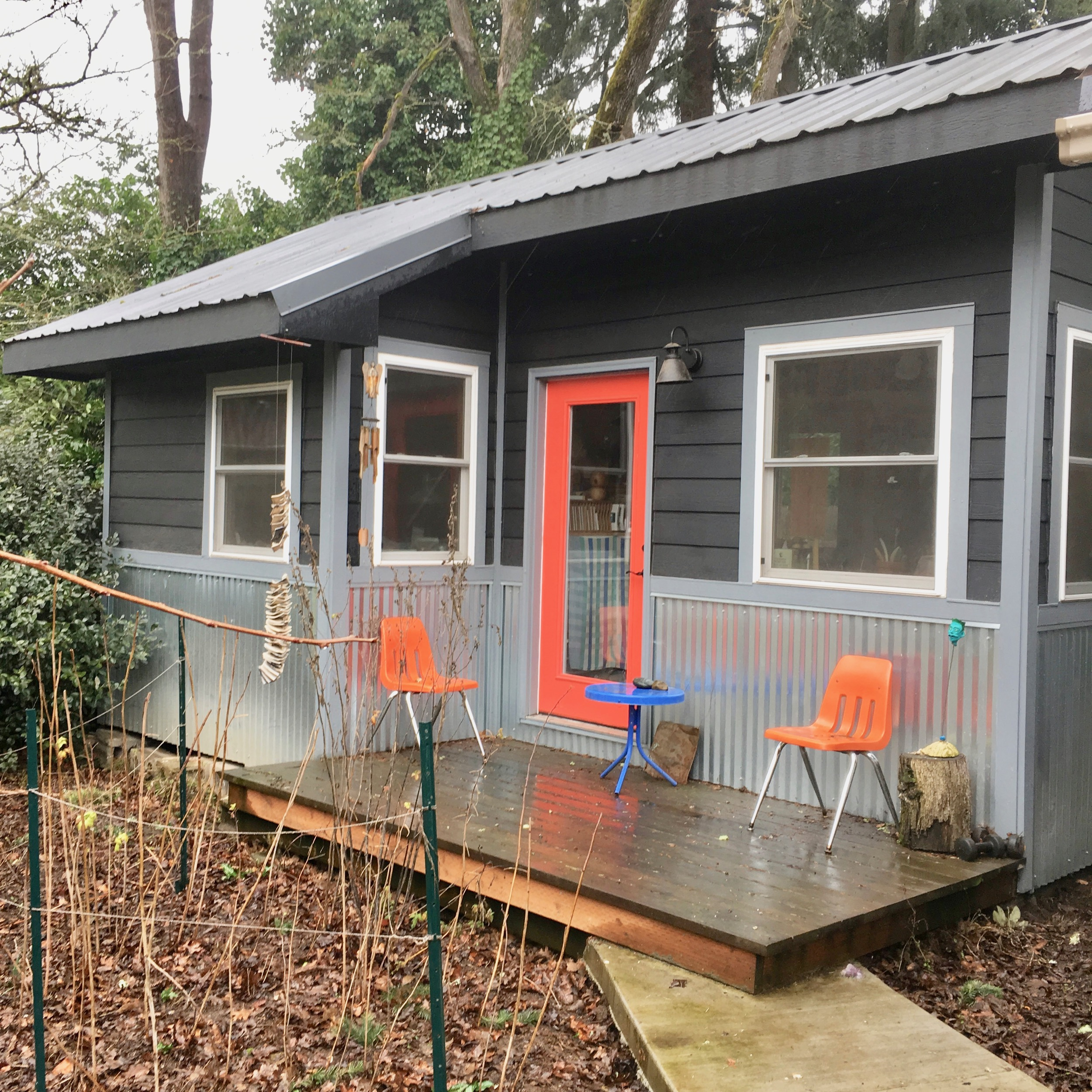 My studio built in 2014 by my neighbor Ed! -