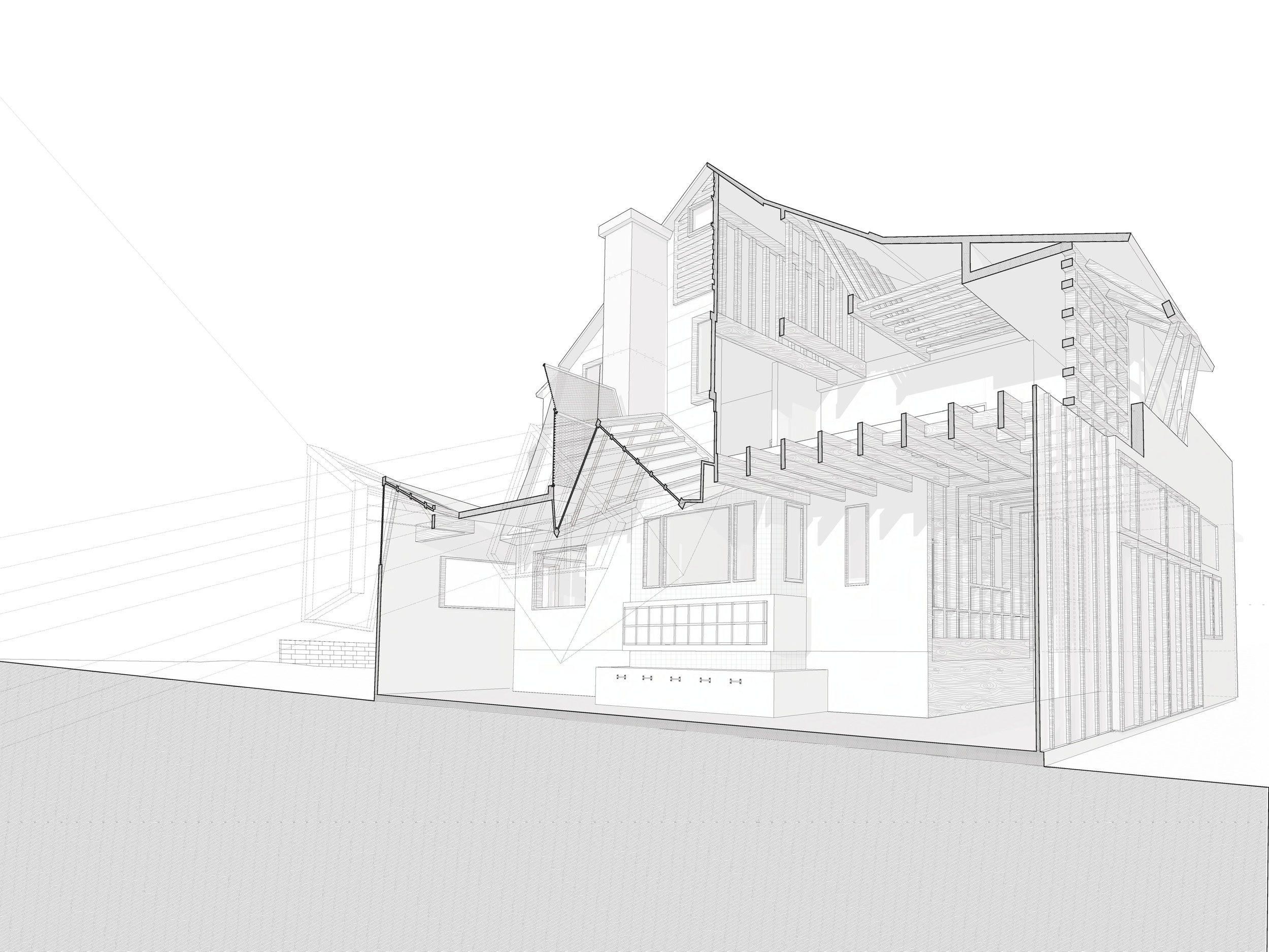 Gehry House Section