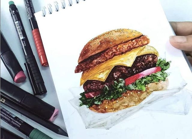 Your Monday burger Inspo by @_mahatef_ 😀 🍔 👊