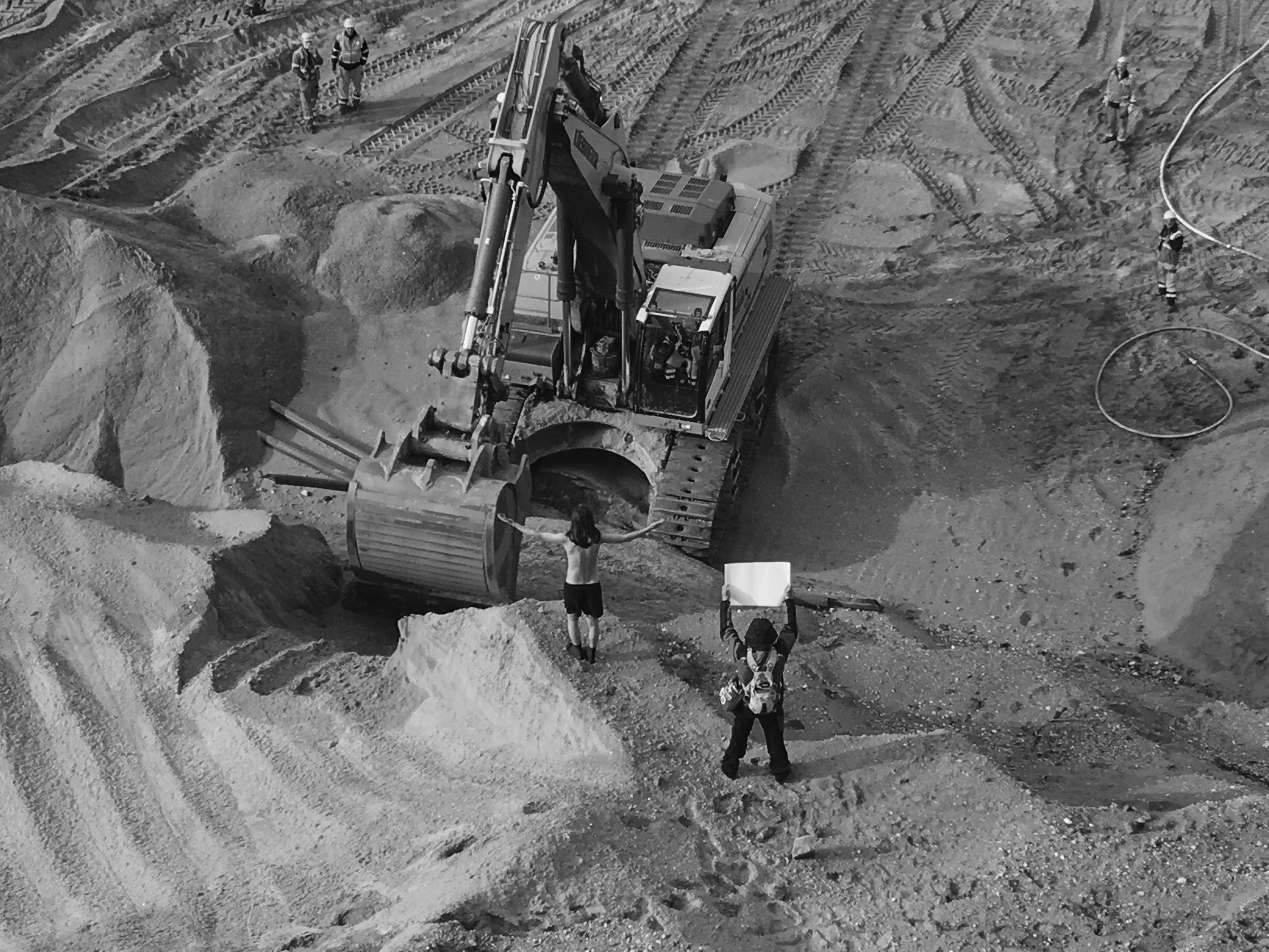 Démonstration à la mine de Hambach, le 27 octobre.