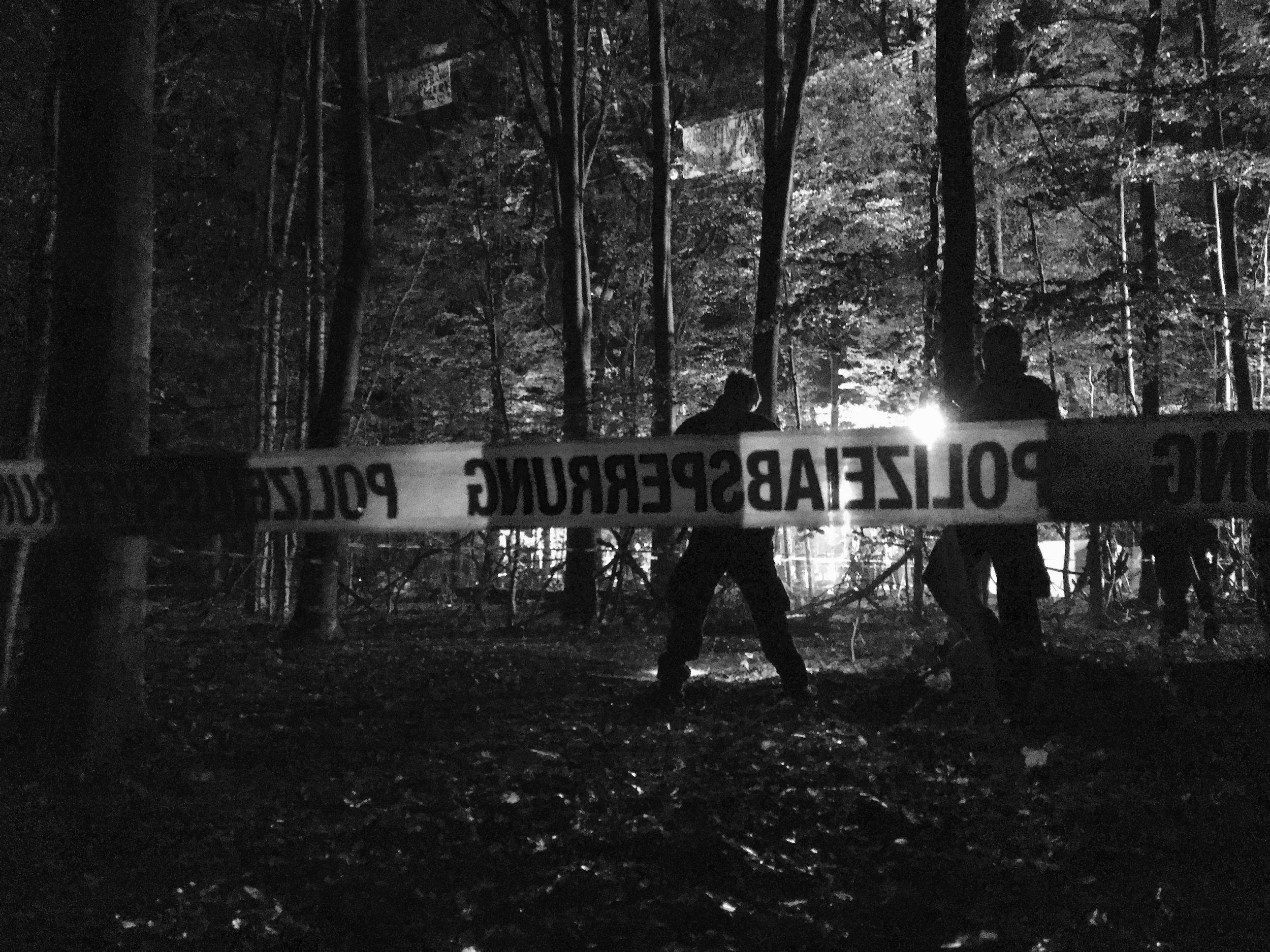 Opération de police dans la forêt de Hambach, septembre 2018.